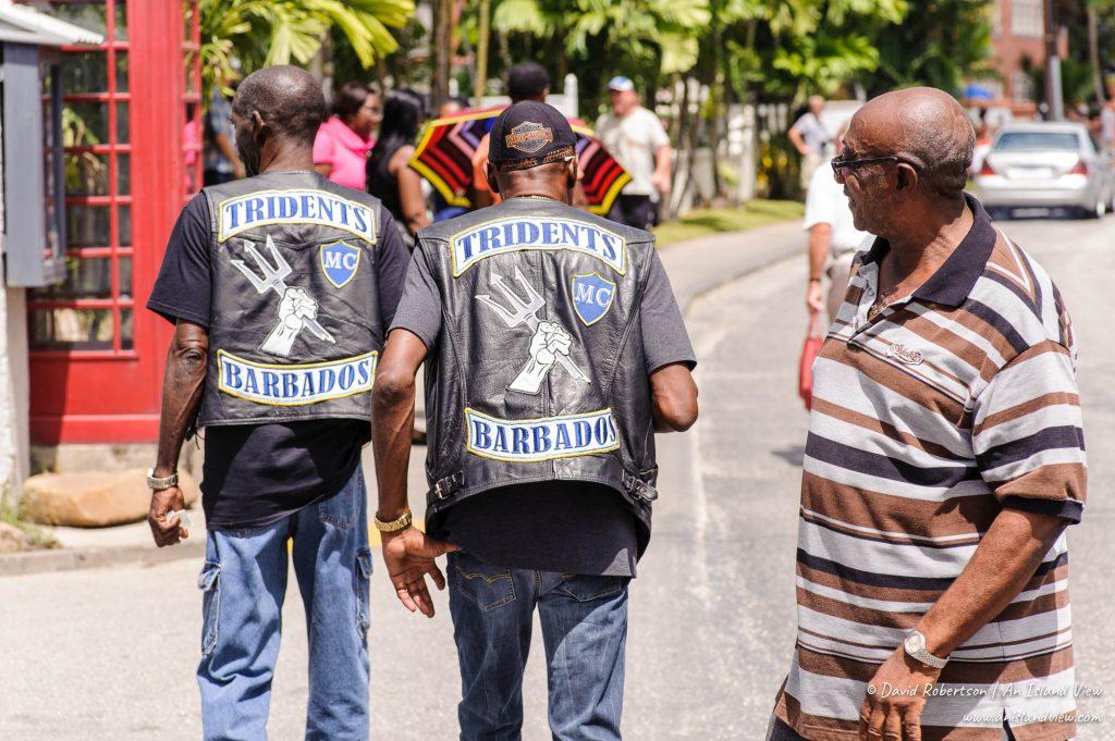 Motorcycle Club members in Barbados.