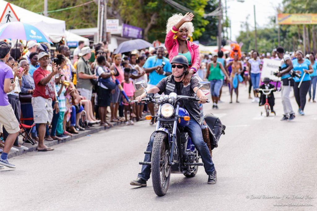 Biker at Holetown festival.