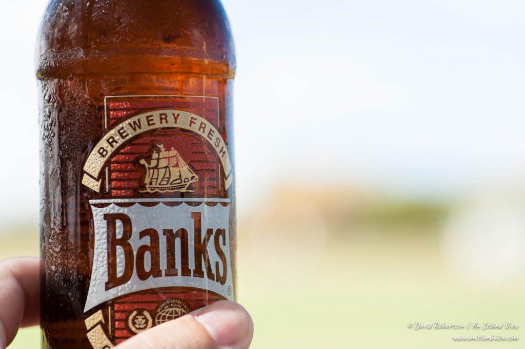 Banks beer bottle.