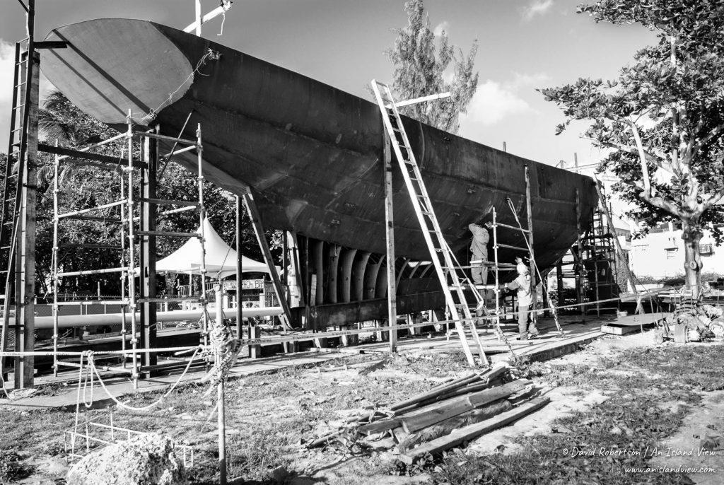 Shipbuilding in Barbados.