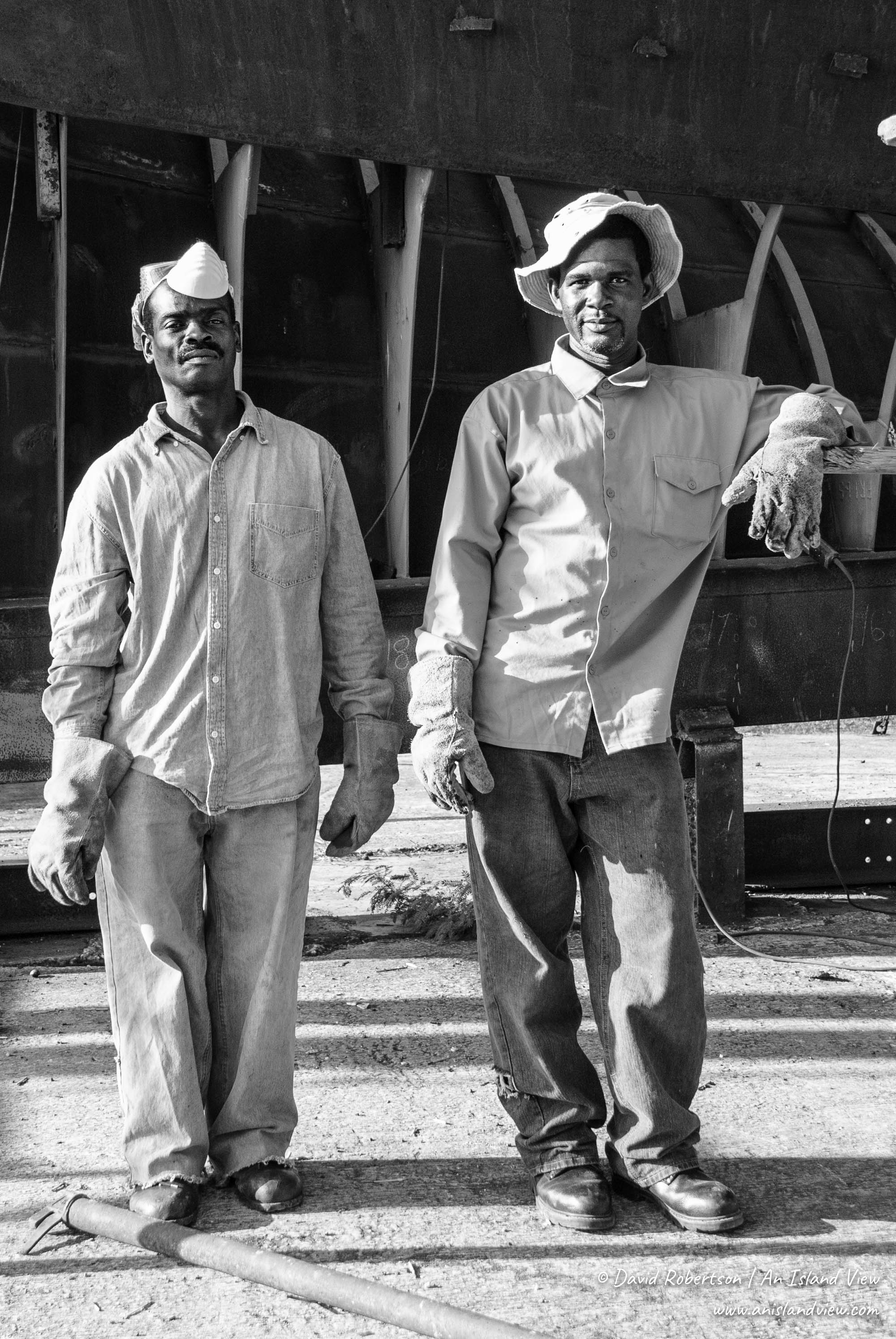 Boat builders in Barbados.