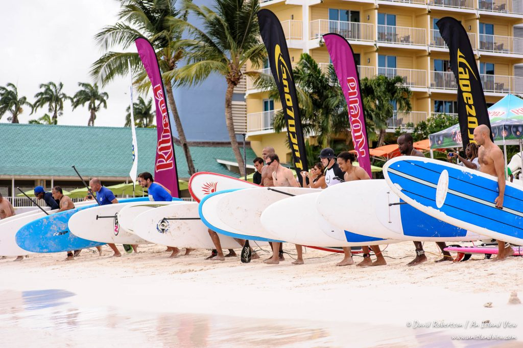 Paddleboard competition.