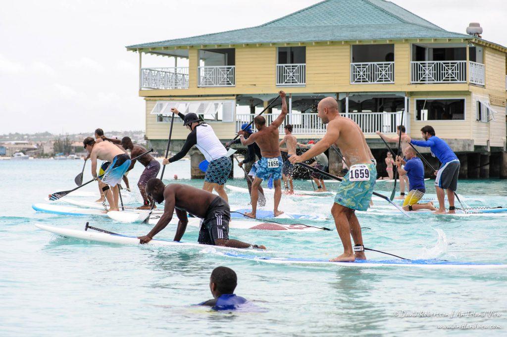 Paddleboard race.