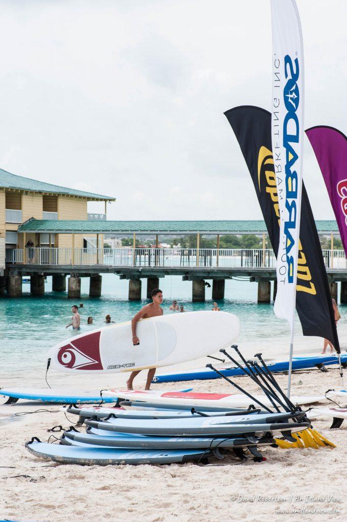Paddleboards in Barbados.