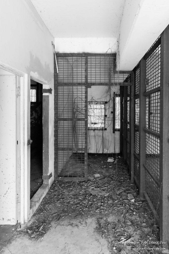 Abandoned prison building.