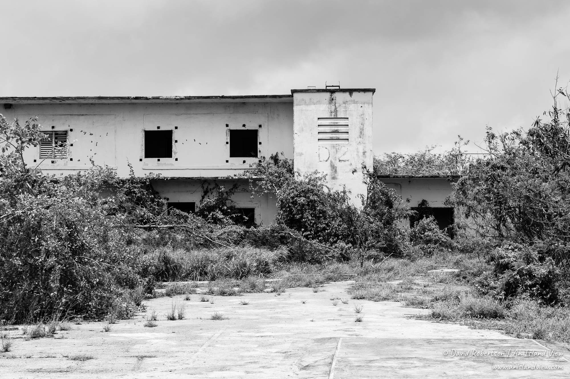 Abandoned prison block.