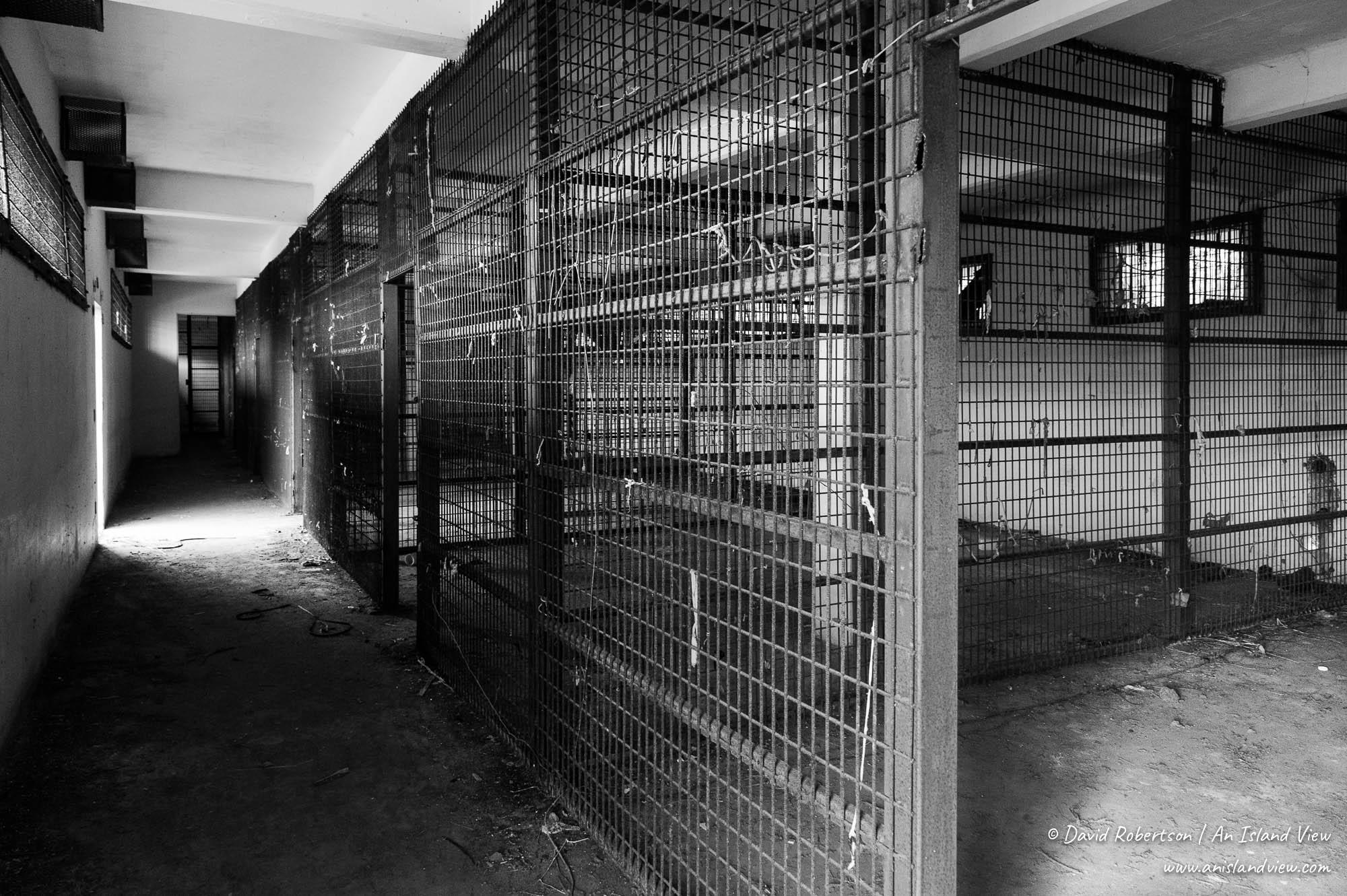 Prison block.