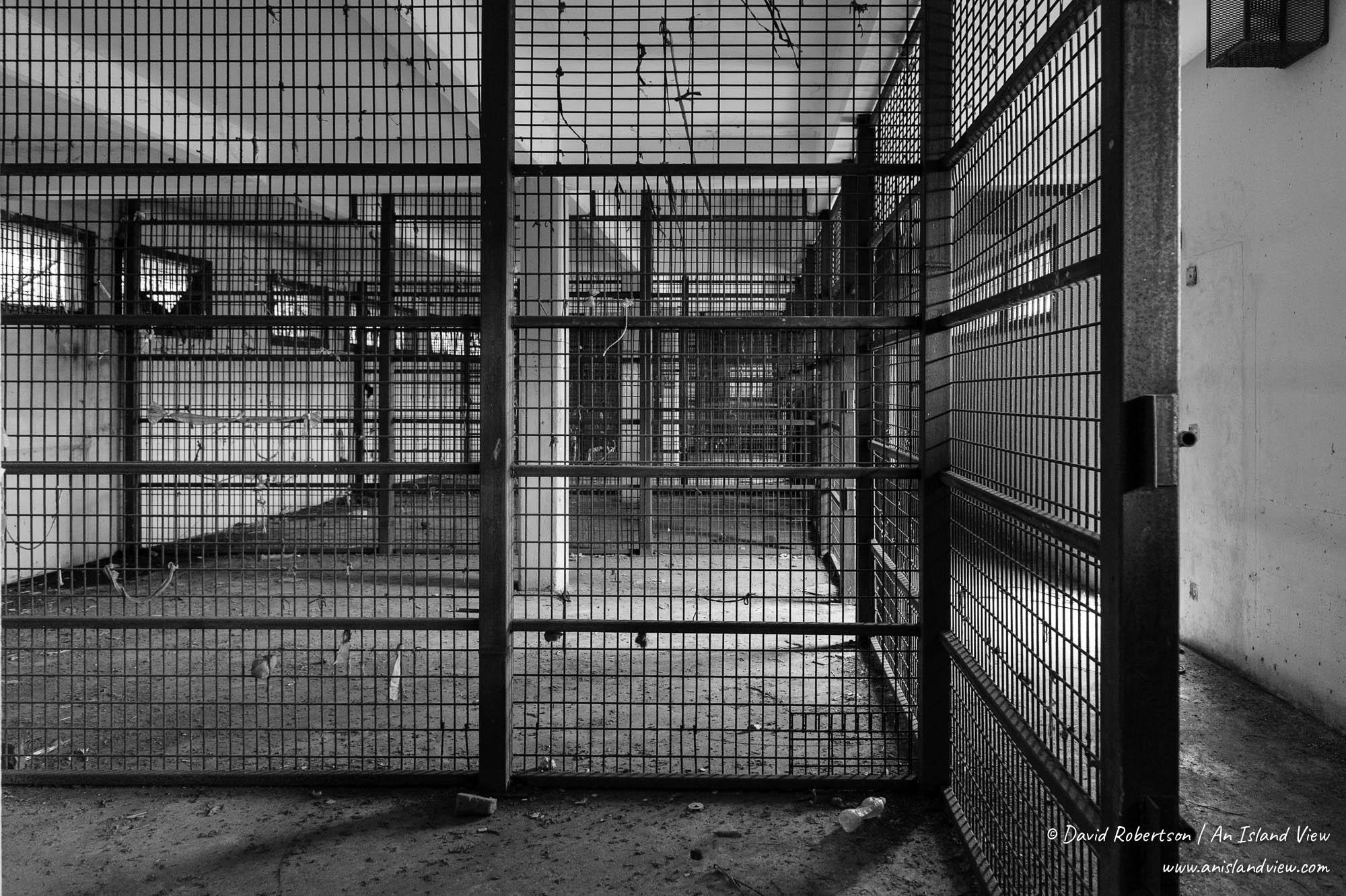 Prison cages.