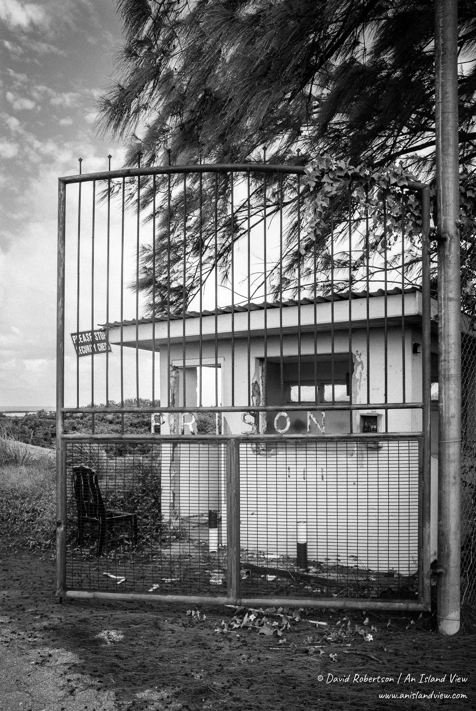 Prison gates.