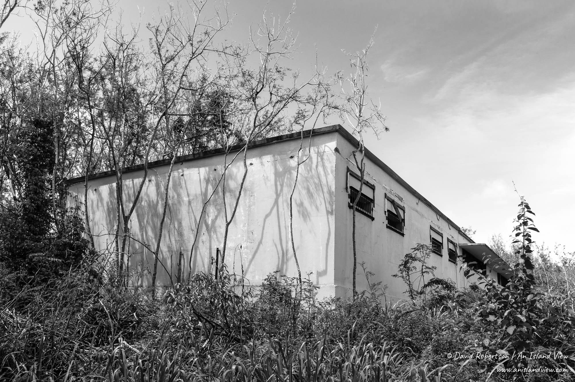 Abandoned prison buildings.