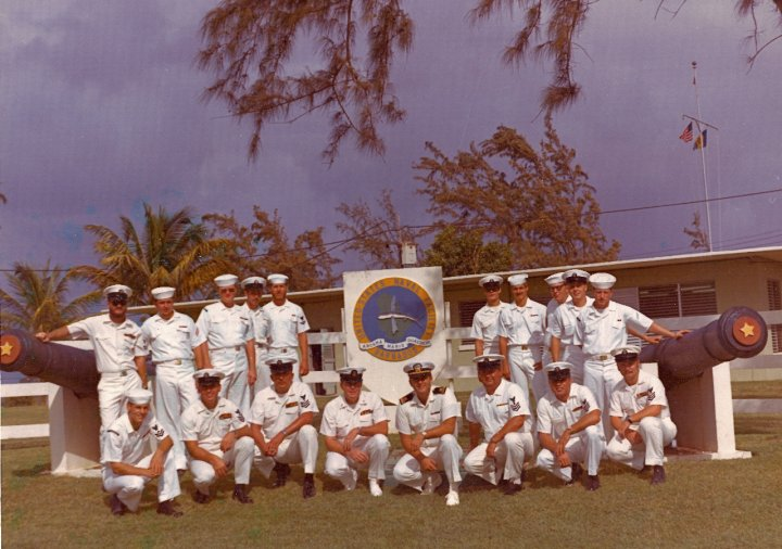 Personnel at the navy base.