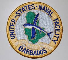 Navy badge or patch.
