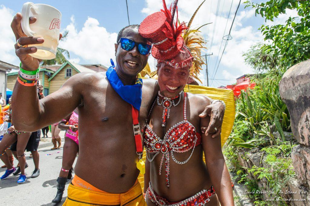 Man and woman at Kadooment.